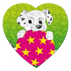 Dalmatians Dog Puppy Animal Pet Jigsaw Puzzle (heart)