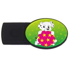 Dalmatians Dog Puppy Animal Pet Usb Flash Drive Oval (4 Gb)