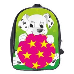 Dalmatians Dog Puppy Animal Pet School Bag (large)