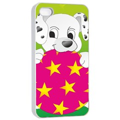 Dalmatians Dog Puppy Animal Pet Apple Iphone 4/4s Seamless Case (white)