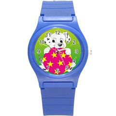 Dalmatians Dog Puppy Animal Pet Round Plastic Sport Watch (s)