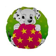 Dalmatians Dog Puppy Animal Pet Standard 15  Premium Round Cushions
