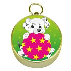 Dalmatians Dog Puppy Animal Pet Gold Compasses