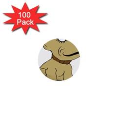 Dog Cute Sitting Puppy Pet 1  Mini Buttons (100 Pack)