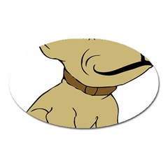 Dog Cute Sitting Puppy Pet Oval Magnet
