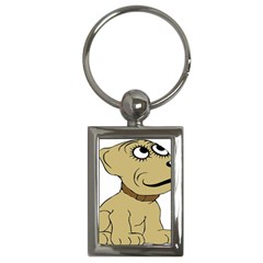 Dog Cute Sitting Puppy Pet Key Chains (rectangle)