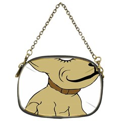 Dog Cute Sitting Puppy Pet Chain Purses (one Side)