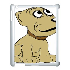 Dog Cute Sitting Puppy Pet Apple Ipad 3/4 Case (white)