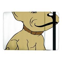 Dog Cute Sitting Puppy Pet Samsung Galaxy Tab Pro 10 1  Flip Case
