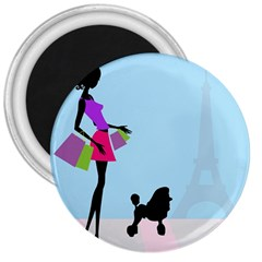 Woman Girl Lady Female Young 3  Magnets