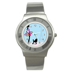 Woman Girl Lady Female Young Stainless Steel Watch
