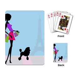 Woman Girl Lady Female Young Playing Card