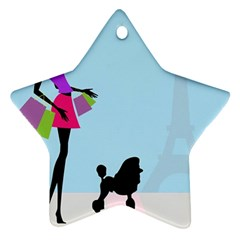 Woman Girl Lady Female Young Star Ornament (two Sides)