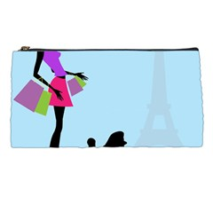 Woman Girl Lady Female Young Pencil Cases by Nexatart