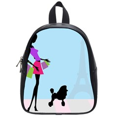Woman Girl Lady Female Young School Bag (small) by Nexatart
