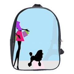 Woman Girl Lady Female Young School Bag (xl) by Nexatart