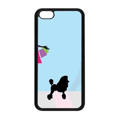 Woman Girl Lady Female Young Apple Iphone 5c Seamless Case (black)
