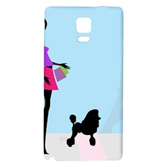 Woman Girl Lady Female Young Galaxy Note 4 Back Case