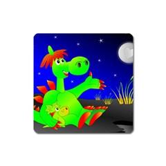 Dragon Grisu Mythical Creatures Square Magnet