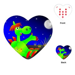 Dragon Grisu Mythical Creatures Playing Cards (heart)
