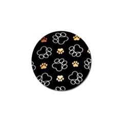Dog Pawprint Tracks Background Pet Golf Ball Marker (10 Pack)