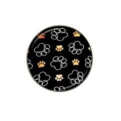 Dog Pawprint Tracks Background Pet Hat Clip Ball Marker (10 Pack)