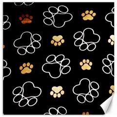 Dog Pawprint Tracks Background Pet Canvas 16  X 16