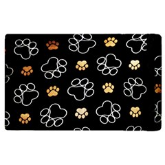 Dog Pawprint Tracks Background Pet Apple Ipad 2 Flip Case