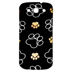 Dog Pawprint Tracks Background Pet Samsung Galaxy S3 S Iii Classic Hardshell Back Case