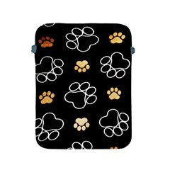 Dog Pawprint Tracks Background Pet Apple Ipad 2/3/4 Protective Soft Cases