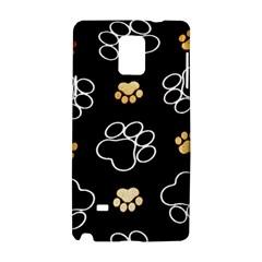 Dog Pawprint Tracks Background Pet Samsung Galaxy Note 4 Hardshell Case