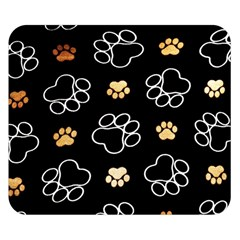 Dog Pawprint Tracks Background Pet Double Sided Flano Blanket (small)
