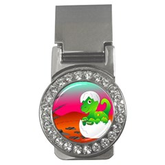 Dinosaur Dino Baby Dino Lizard Money Clips (cz)