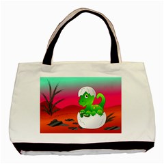 Dinosaur Dino Baby Dino Lizard Basic Tote Bag (two Sides)