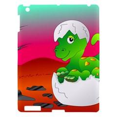 Dinosaur Dino Baby Dino Lizard Apple Ipad 3/4 Hardshell Case