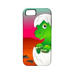Dinosaur Dino Baby Dino Lizard Apple Iphone 5 Classic Hardshell Case (pc+silicone)