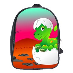 Dinosaur Dino Baby Dino Lizard School Bag (xl)