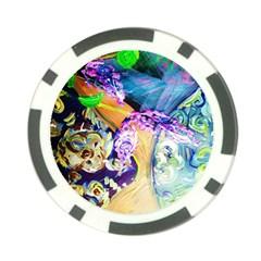 Blue Lilac On A Countertop 3 Poker Chip Card Guard by bestdesignintheworld