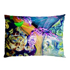 Blue Lilac On A Countertop 3 Pillow Case by bestdesignintheworld
