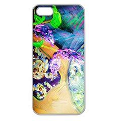 Blue Lilac On A Countertop 3 Apple Seamless Iphone 5 Case (clear) by bestdesignintheworld