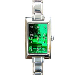 Hot Day In Dallas 24 Rectangle Italian Charm Watch by bestdesignintheworld