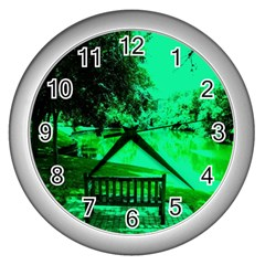 Hot Day In Dallas 24 Wall Clocks (silver)