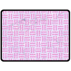 Woven1 White Marble & Pink Colored Pencil (r) Double Sided Fleece Blanket (large)  by trendistuff