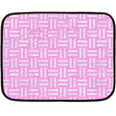 Woven1 White Marble & Pink Colored Pencil Double Sided Fleece Blanket (mini)  by trendistuff