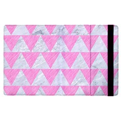 Triangle2 White Marble & Pink Colored Pencil Apple Ipad Pro 9 7   Flip Case