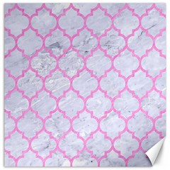Tile1 White Marble & Pink Colored Pencil (r) Canvas 20  X 20