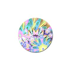 Floral Pattern Tropical Hawaiian Retro  Golf Ball Marker (10 Pack) by CrypticFragmentsColors