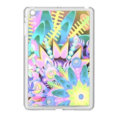 Floral Pattern Tropical Hawaiian Retro  Apple Ipad Mini Case (white) by CrypticFragmentsColors