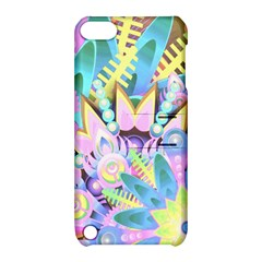 Floral Pattern Tropical Hawaiian Retro  Apple Ipod Touch 5 Hardshell Case With Stand by CrypticFragmentsColors