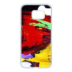 Balboa   Island On A Sand 19 Samsung Galaxy S7 Edge White Seamless Case by bestdesignintheworld